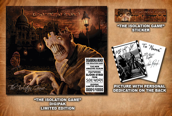 The Isolation Game - Digipak Limited Edition - Preorder