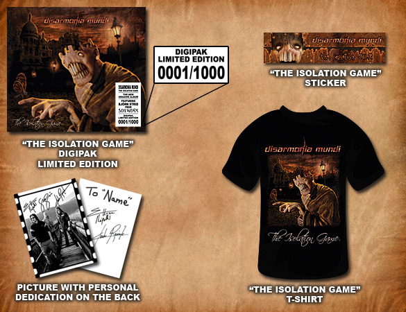 The Isolation Game - Digipak Limited Edition + T-Shirt - Preorder