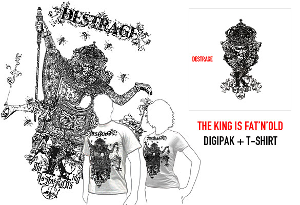 The King Is Fat'N'Old - Digipak + T-Shirt - Preorder